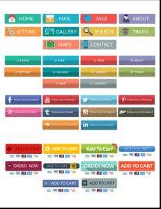 模組#12 平面風格的網頁按鈕