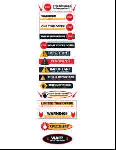 模組#14 平面風格的警告圖形