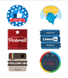 模組#22 平面風格的社群媒體徽章