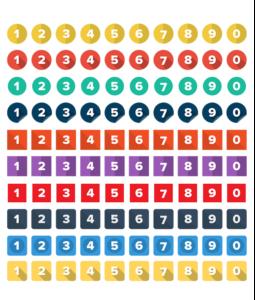 模組#23 平面風格的數字圖標