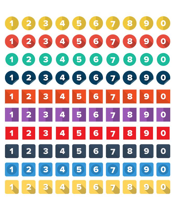 模组#23 平面风格的数字图标图片