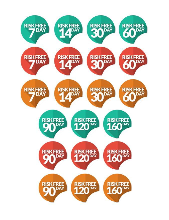 模組#25 平面風格的貼紙