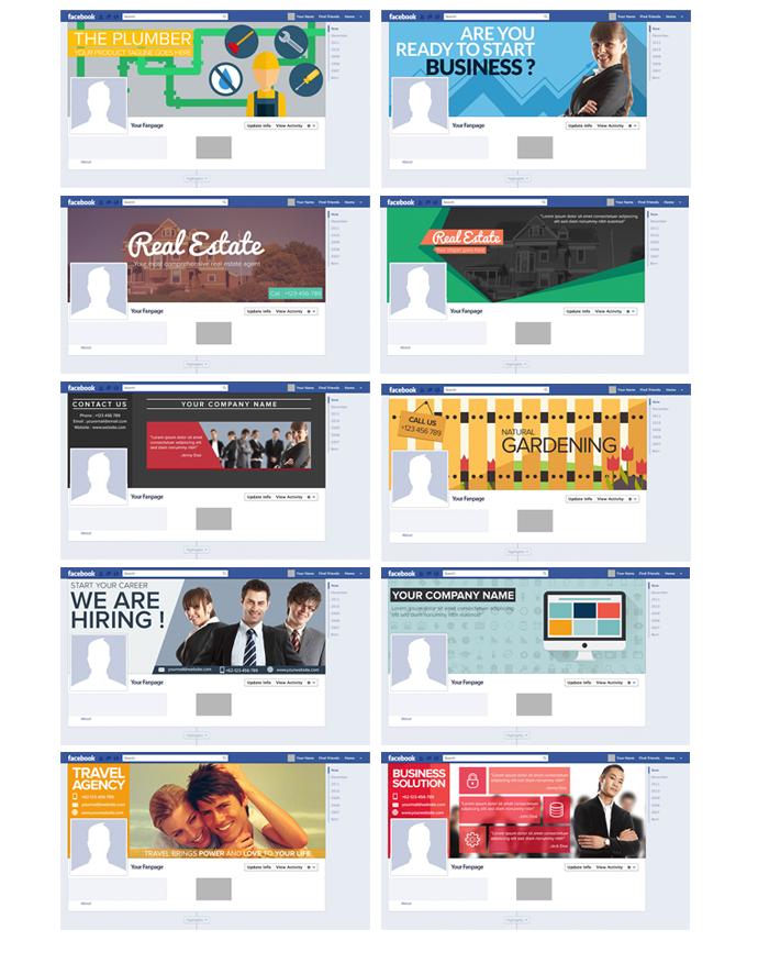 模組#7 平面風格的FACEBOOK封面
