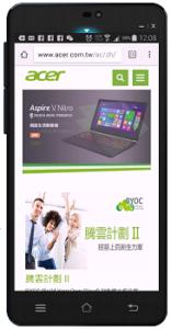 宏碁-自適應網站-手機板